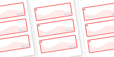 Ruby Themed Editable Drawer-Peg-Name Labels (Colourful)