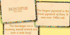 Amazing Ancient Egyptians Display Fact Cards