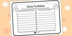 Story Prediction Reading Comprehension Activity Sheet