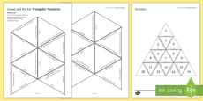Sound and the Ear Tarsia Triangular Dominoes