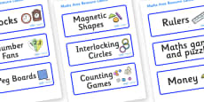 Welcome to our class - Plain Themed Editable Maths Area Resource Labels