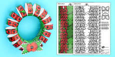 3D ANZAC Day Poppy Wreath