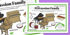 Orchestra Instruments Percussion Family Poster