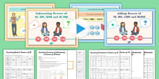 Year 5 Add and Subtract Powers of 10 Teaching Pack