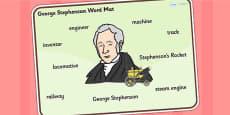 George Stephenson Word Mat