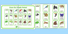 Guess the Jungle Animal Guess Who Game