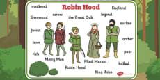 Robin Hood Word Mat
