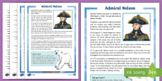 Admiral Nelson Differentiated Reading Comprehension Activity