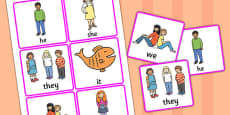 Personal Pronoun Picture Support Cards