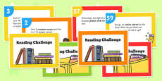 Reading Challenge Cards