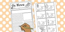 The Wizard of Oz Newspaper Writing Template