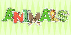 Animals Display Letters