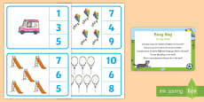 At the Park Number Recognition Busy Bag Prompt Card and Resource Pack