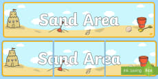 * NEW * Sand Area Banner