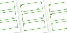 Jamaica Themed Editable Drawer-Peg-Name Labels (Blank)