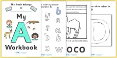 My Alphabet Workbook Pack (uppercase)