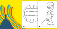 The Olympics Water Polo Colouring Sheets