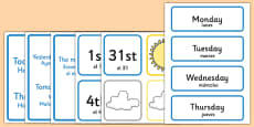 Weather Calendar Spanish Translation
