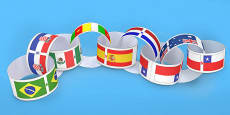 World Cup Country Flags Paper Chains