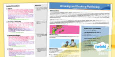 PlanIt Computing Y3 Drawing and Desktop Publishing Planning Overview