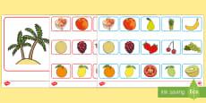 Fruit Desert Island Loot Board Game French