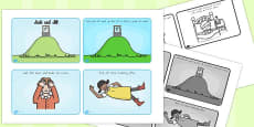 Australia - Jack and Jill Story Sequencing 4 Per A4 Black and White