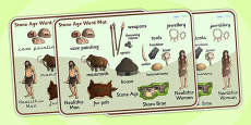 The Stone Age Word Mat