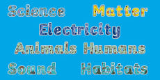 Year 4 Science Display Lettering Resource Pack