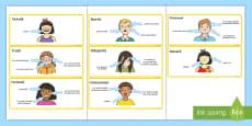Caracteristicile emoțiilor Cartonașe