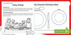 Tasty Turkeys Activity Sheet