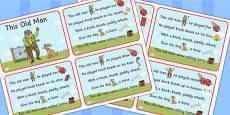 This Old Man Nursery Rhyme Cards