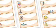 Editable Drawer - Peg - Name Labels (Seaside)