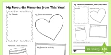 * NEW * End of the Year Writing Activity Sheet