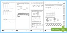 Year 2 Maths Assessment: Fractions Term 1