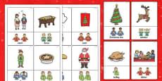 British Sign Language Christmas Sign Flash Cards
