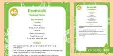 Beanstalk Playdough Recipe