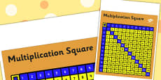 Multiplication Square For Visually Impaired