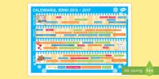Calendarul iernii Calendar de perete