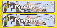 The Olympics Pentathlon Display Banner