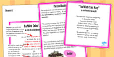 Figurative Language Activity and Reference Sheet Personification