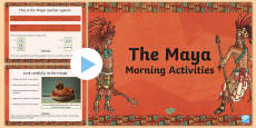 1 Week Maya Civilization Themed Morning Activities UKS2
