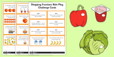 Fractions Shopping Role Play Pack