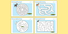The Billy Goats Gruff Differentiated Maze Activity Sheet Pack