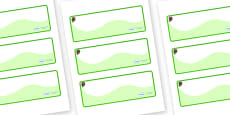 Beaver Themed Editable Drawer-Peg-Name Labels (Colourful)