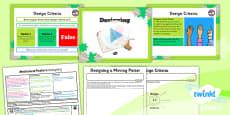 PlanIt - D&T LKS2 - Mechanical Posters Lesson 3: Designing Lesson Pack