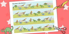 1-40 on Dinosaurs Number Strips