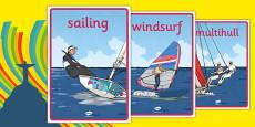 Rio 2016 Olympics Sailing Display Poster