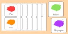 Colour Flashcards Māori
