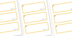 Dormouse Themed Editable Drawer-Peg-Name Labels (Blank)
