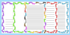 Footprint Page Borders